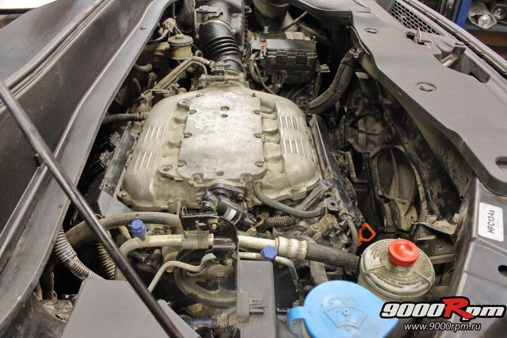 Мотор J35A без декоративного кожуха